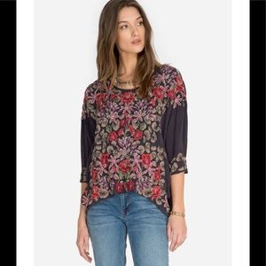 Johnny Was Leopard Rose Blouse